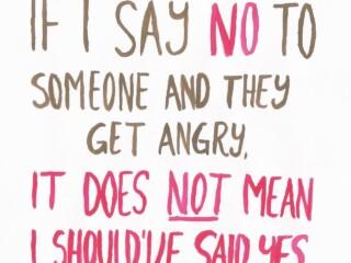if i say no